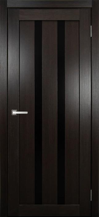 дверь царговая М-8 Венге стекло Черное лакобель Омская фабрика дверей Сибирь